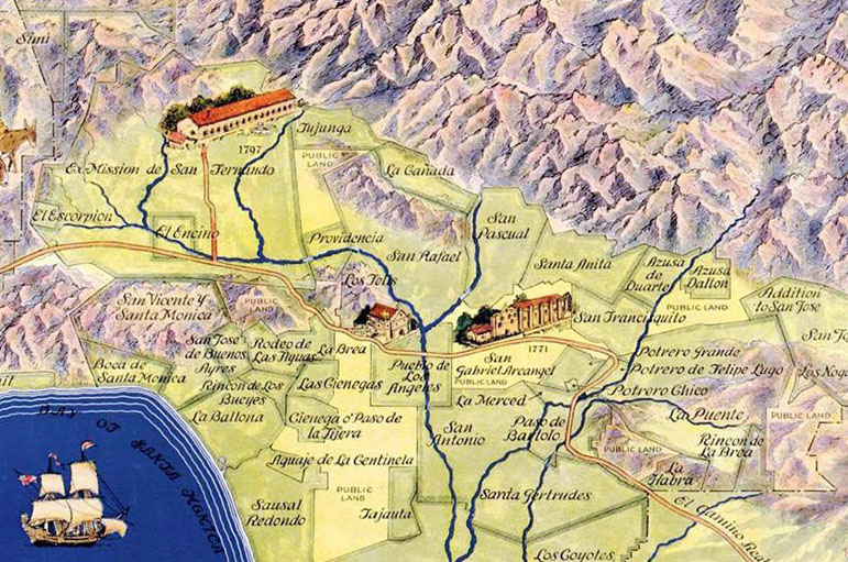 California Ranchos Map