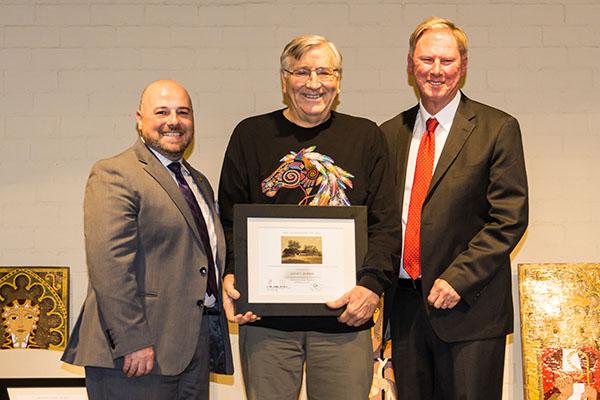 Dr. Jarrel C. Jackman receives the 2016 CMF Chairman's Award.