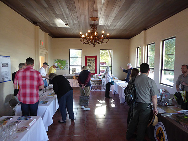 Book vendors at the 2016 California Missions Conference.