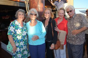 (From left) Honorary Consul of Spain Maria Angeles O'Donnell-Olsen, Dr. Iris Engstrand, Cota descendent Connie Gunther, CAREM's Zella Ibanez, and Tom Workman.