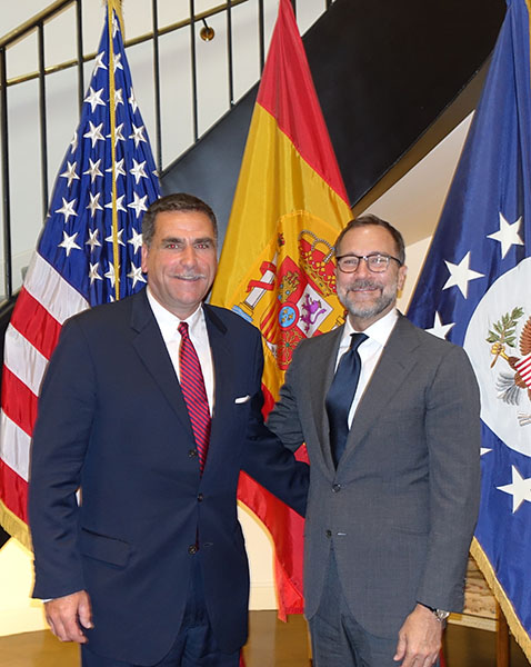 CMF Executive Director David A. Bolton with the US Ambassador to Spain Mr. James Costos.