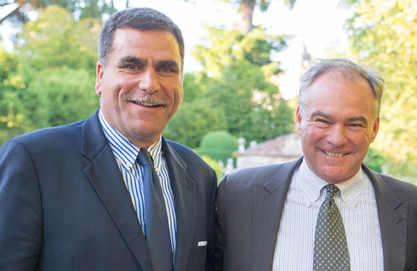 CMF Executive Director David A. Bolton and US Senator (D-Virginia) and Democratic Vice Presidential Nominee Mr. Tim Kaine.