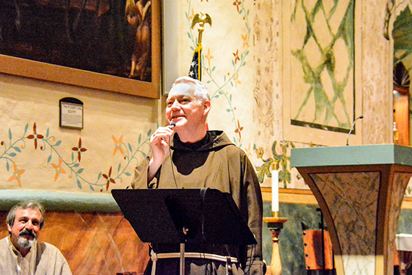 Father Matthew Elshoff, OFM Cap., welcomes conference attendees