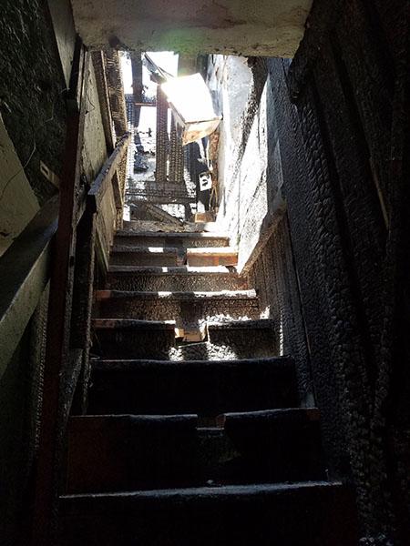Stairs to choir loft